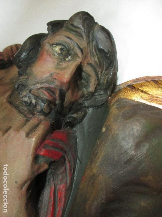 Antigüedades: FIGURA DE SANT JORDI TALLADA EN MADERA Y PINTADA A MANO. (F. S.XIX-P. S.XX). - Foto 8 - 118993039
