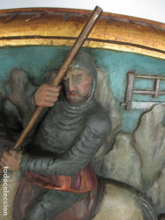 Antigüedades: FIGURA DE SANT JORDI TALLADA EN MADERA Y PINTADA A MANO. (F. S.XIX-P. S.XX). - Foto 15 - 118993039