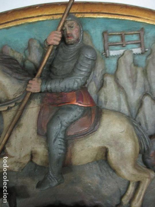 Antigüedades: FIGURA DE SANT JORDI TALLADA EN MADERA Y PINTADA A MANO. (F. S.XIX-P. S.XX). - Foto 16 - 118993039