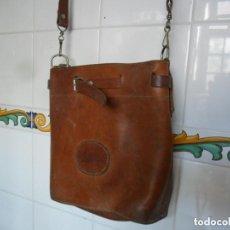 Antigüedades: BOLSO DE PIÉL ANTIGUO. Lote 119024155