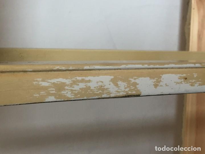 Antigüedades: velador estilo asiatico chino lacado en beige s XX elegante soporte peana figura busto jarron 82x38x - Foto 13 - 119028383
