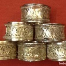 Antigüedades: SERVILLETEROS PLATA . Lote 119029703