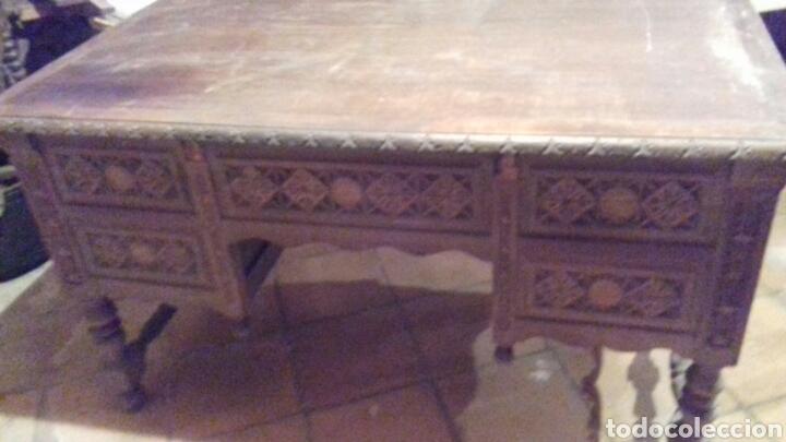 Antigüedades: mesa de despacho escritorio - Foto 6 - 91586009