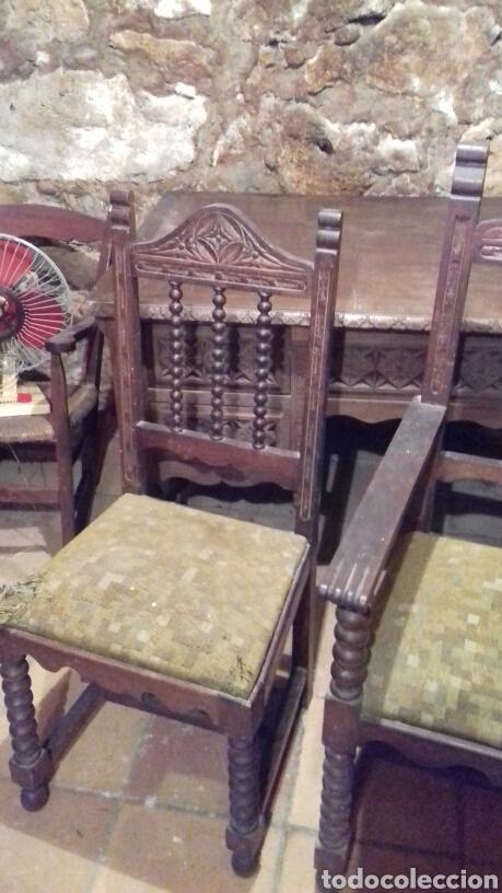 Antigüedades: mesa de despacho escritorio - Foto 11 - 91586009