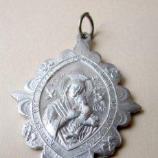 Antigüedades: ANTIGUA MEDALLA NTRA. SRA. DEL PERPETUO SOCORRO Y SAGRADO 5 X 3,5 CM APROX,. Lote 119039155