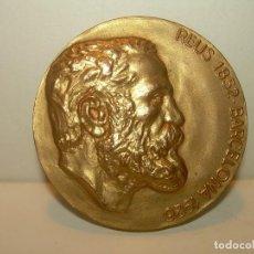 Antigüedades: MEDALLA DE BRONCE EN RELIEVE..ANTONI GAUDI....SAGRADA FAMILIA DE BARCELONA.. Lote 119040511