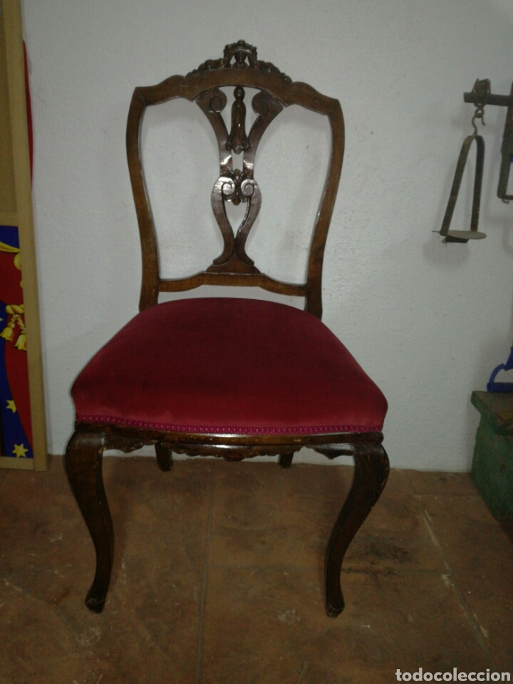 ANTIGUA SILLA DESCALZADORA (Antigüedades - Muebles Antiguos - Sillas Antiguas)