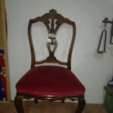 Antiquités: ANTIGUA SILLA DESCALZADORA. Lote 120425260