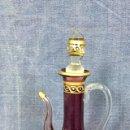 Antigüedades: ARCHIMEDE SEGUSO PERFUMERO ESENCIERO VIDRIO SOPLADO MORADO DORADO DECORADO MANO MURANO ITALY 16,5X7C. Lote 119061739