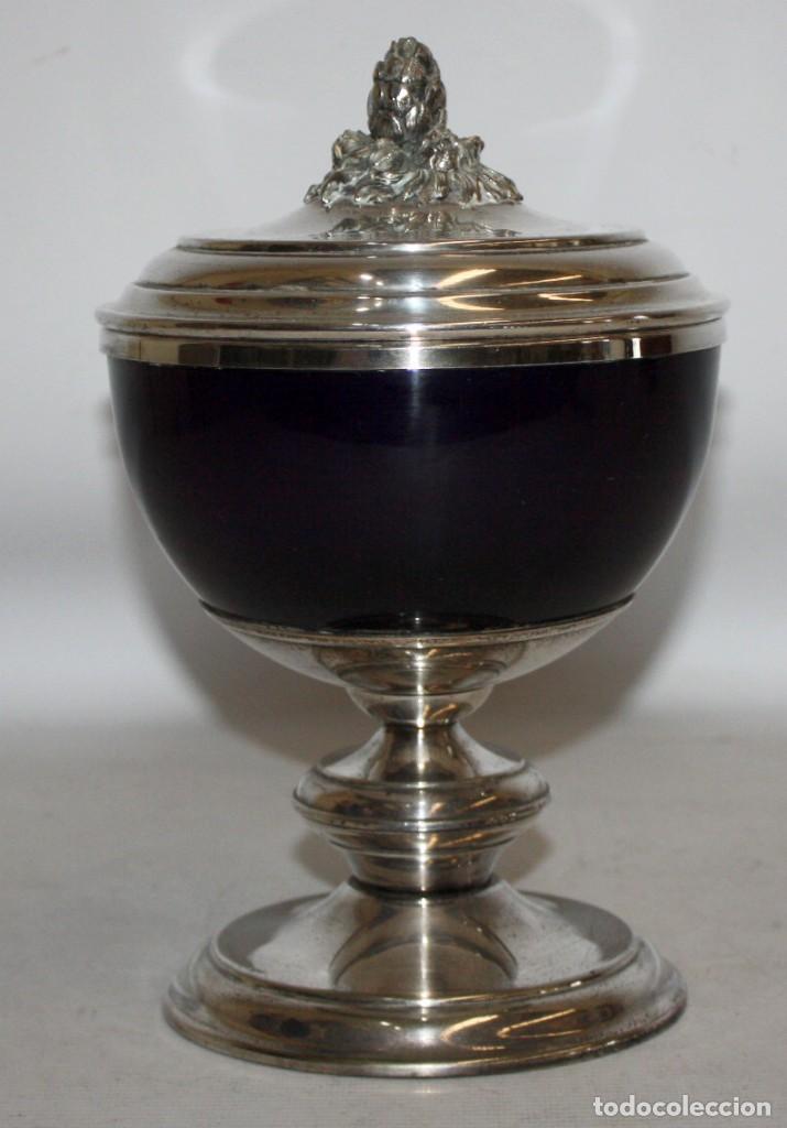 BONITA COPA O COPON EN METAL PLATEADO DE APROXIMADAMENTE 1920 (Antigüedades - Hogar y Decoración - Copas Antiguas)