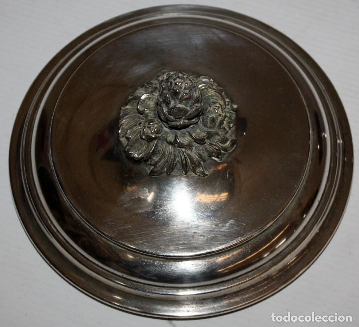 Antigüedades: BONITA COPA O COPON EN METAL PLATEADO DE APROXIMADAMENTE 1920 - Foto 5 - 119078183