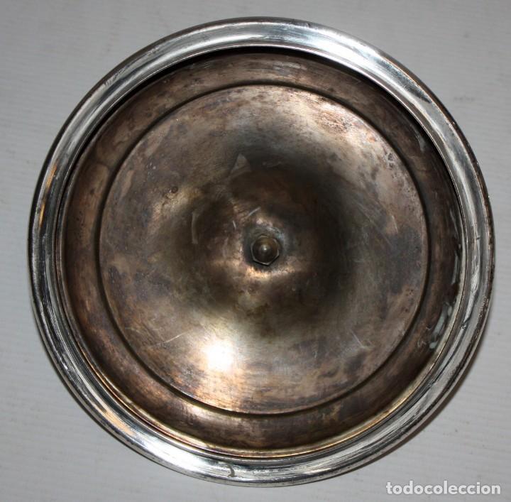 Antigüedades: BONITA COPA O COPON EN METAL PLATEADO DE APROXIMADAMENTE 1920 - Foto 7 - 119078183
