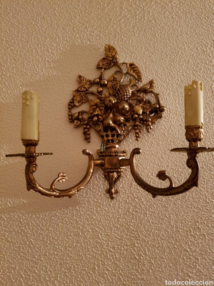 PAREJA DE APLIQUES (Antigüedades - Iluminación - Apliques Antiguos)