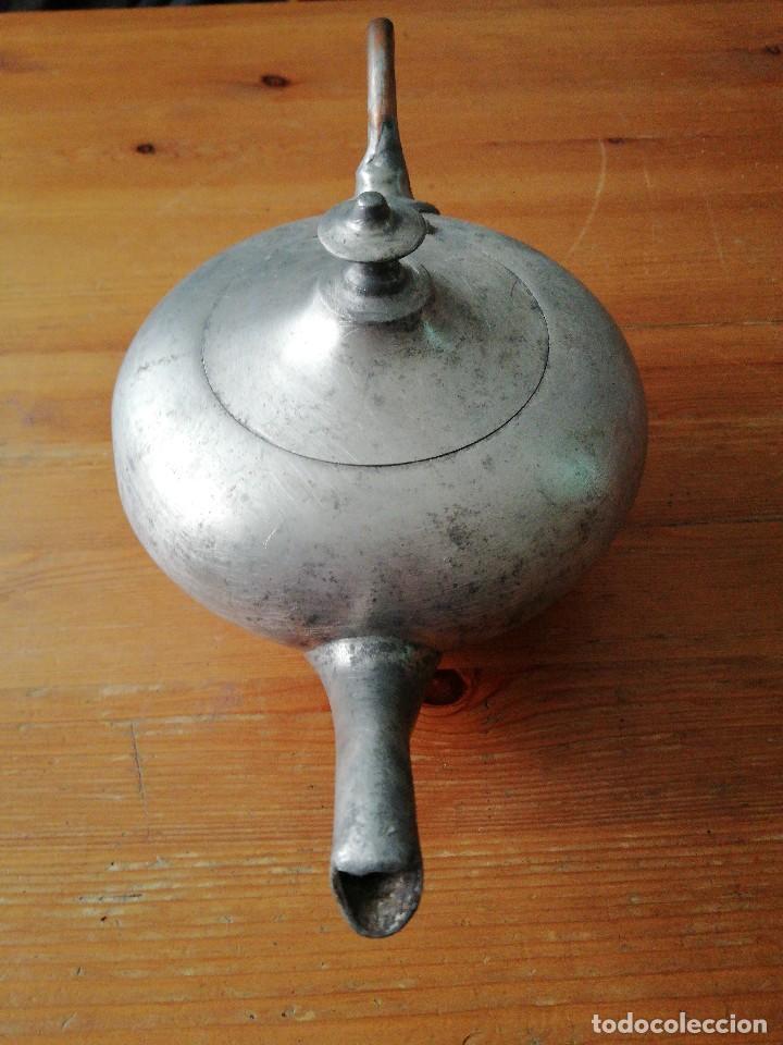 Antigüedades: Tetera de hierro - Foto 2 - 119088427