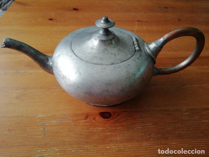 Antigüedades: Tetera de hierro - Foto 3 - 119088427