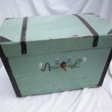 Antigüedades: PRECIOSO BAÚL ANTIGUO. Lote 119097923