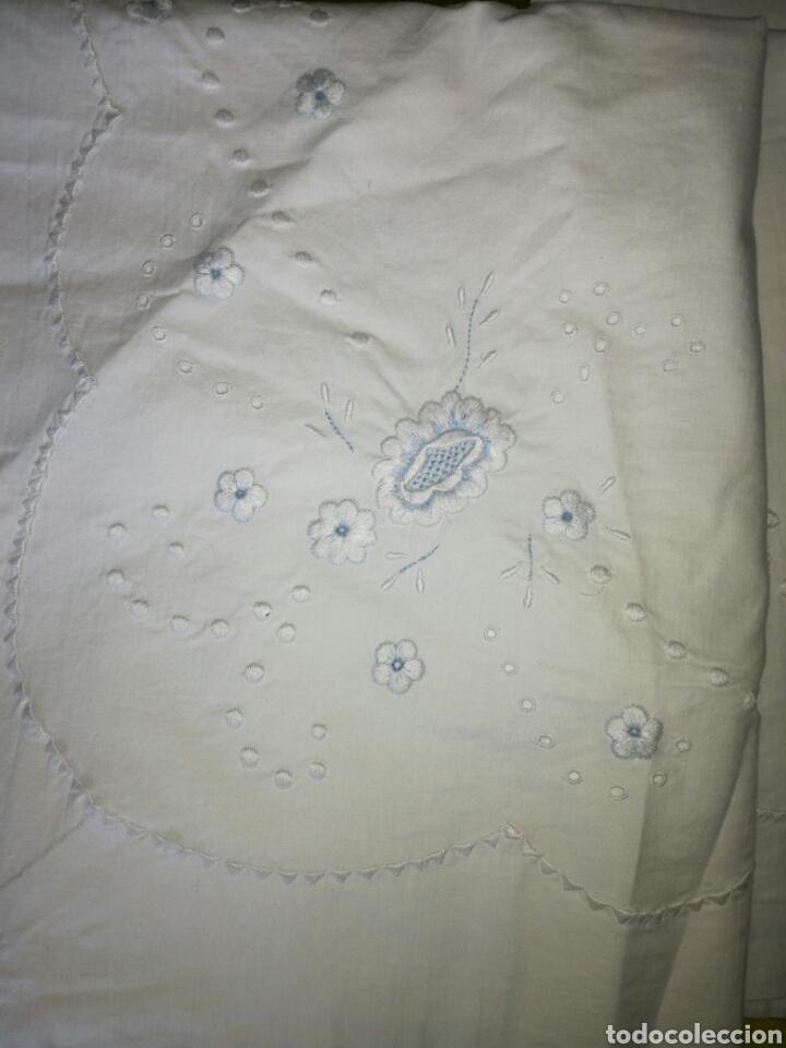 Antigüedades: Juego de sábanas bordado - Foto 3 - 119101843