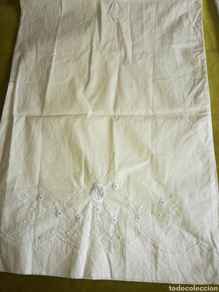 Antigüedades: Juego de sábanas bordado - Foto 6 - 119101843