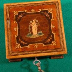 Antigüedades: PRECIOSA CAJA ANTIGUA DE MARQUETERÍA R640118. Lote 119102775
