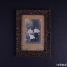 Antigüedades: RETRATO PAREJA DE NIÑOS, FOTO Y MARCO DE EPOCA. Lote 119103755