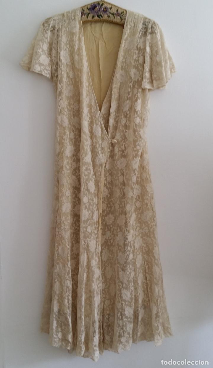 Antigüedades: Autentico vestido de encaje Art Deco - americano - Foto 2 - 119176455