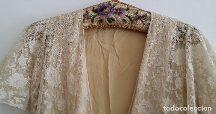 Antigüedades: Autentico vestido de encaje Art Deco - americano - Foto 3 - 119176455