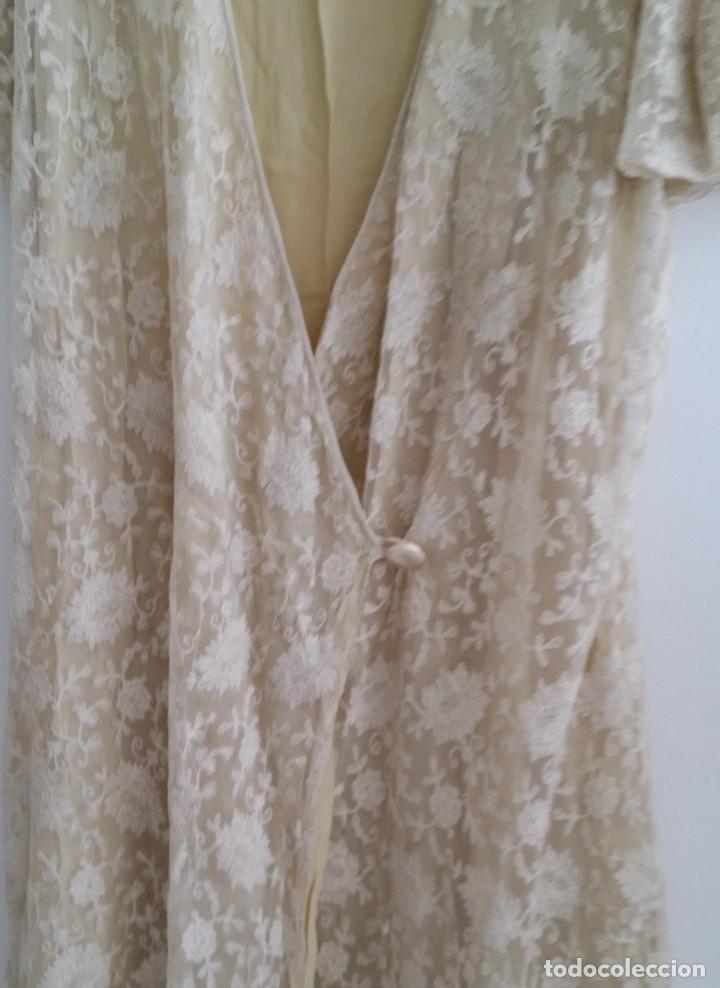 Antigüedades: Autentico vestido de encaje Art Deco - americano - Foto 4 - 119176455