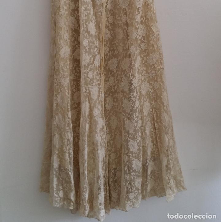 Antigüedades: Autentico vestido de encaje Art Deco - americano - Foto 5 - 119176455