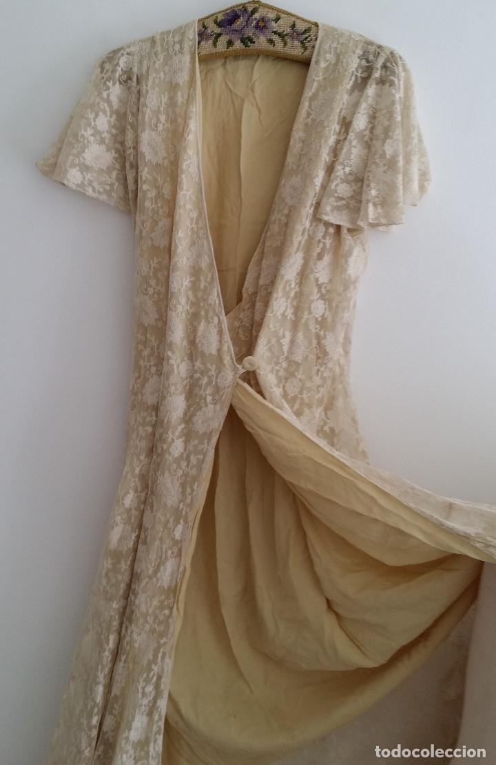 Antigüedades: Autentico vestido de encaje Art Deco - americano - Foto 6 - 119176455