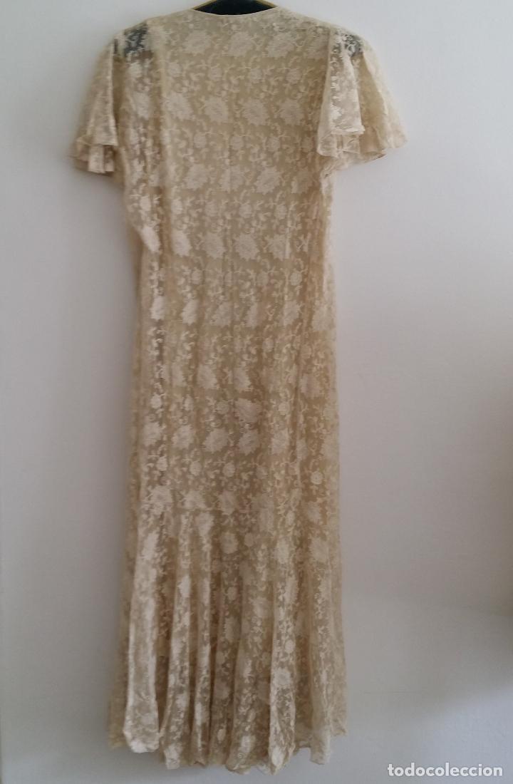 Antigüedades: Autentico vestido de encaje Art Deco - americano - Foto 7 - 119176455