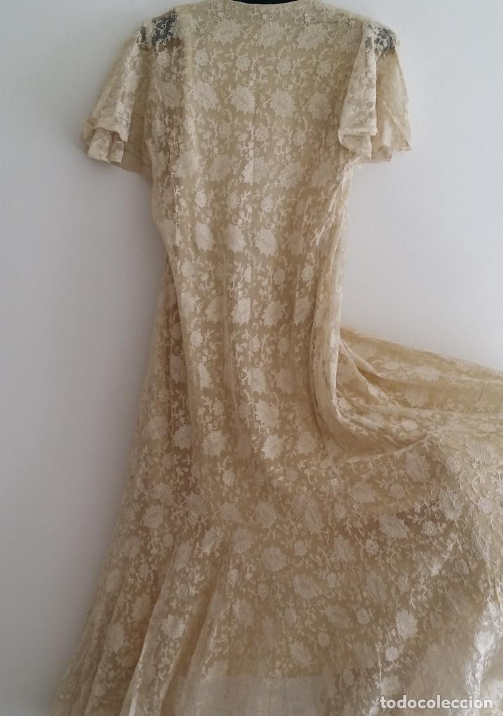 Antigüedades: Autentico vestido de encaje Art Deco - americano - Foto 8 - 119176455