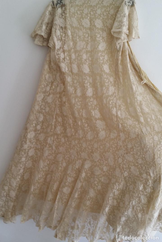 Antigüedades: Autentico vestido de encaje Art Deco - americano - Foto 9 - 119176455