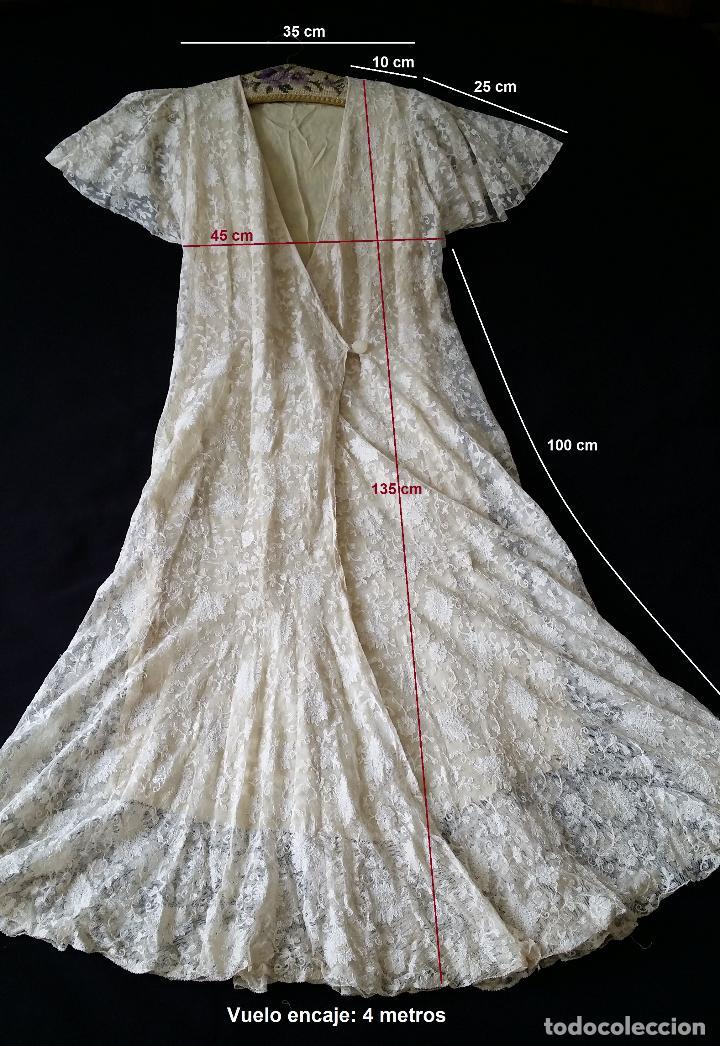 Antigüedades: Autentico vestido de encaje Art Deco - americano - Foto 15 - 119176455