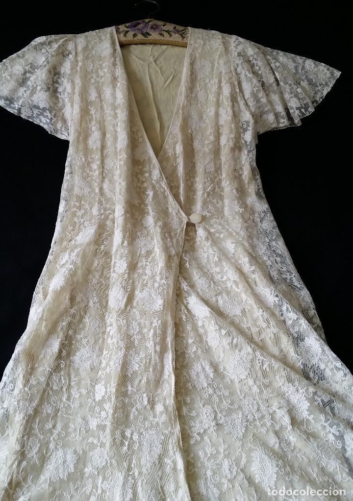 Antigüedades: Autentico vestido de encaje Art Deco - americano - Foto 17 - 119176455