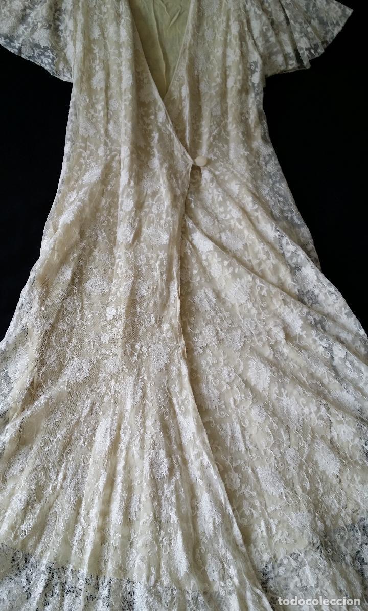 Antigüedades: Autentico vestido de encaje Art Deco - americano - Foto 18 - 119176455