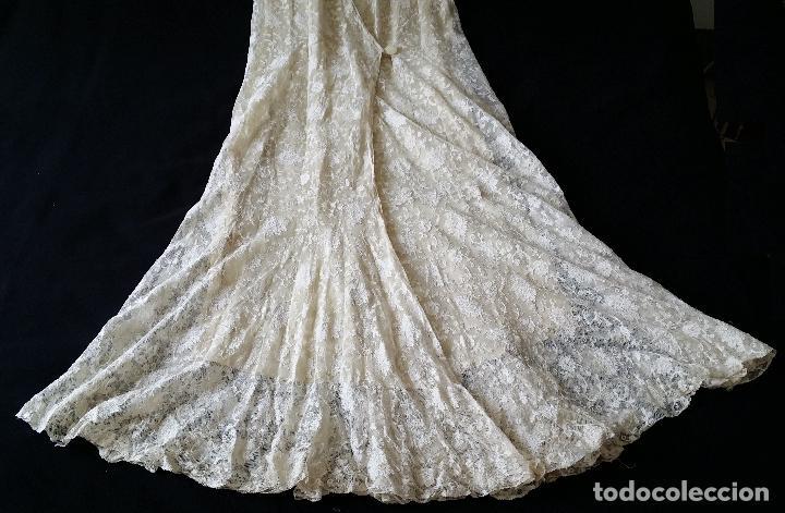 Antigüedades: Autentico vestido de encaje Art Deco - americano - Foto 20 - 119176455