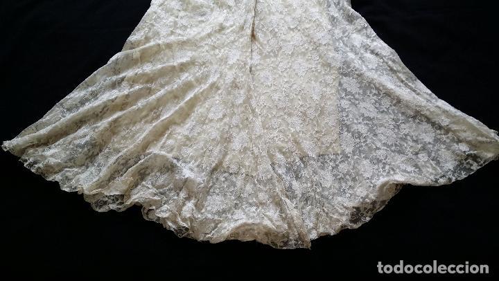 Antigüedades: Autentico vestido de encaje Art Deco - americano - Foto 21 - 119176455