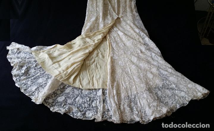 Antigüedades: Autentico vestido de encaje Art Deco - americano - Foto 22 - 119176455