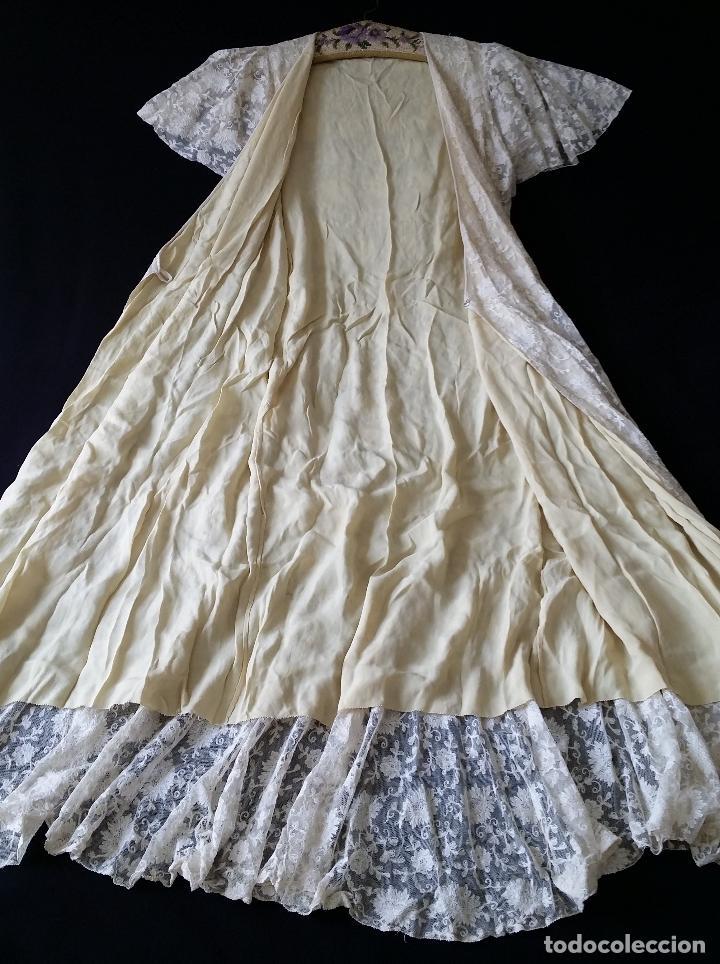 Antigüedades: Autentico vestido de encaje Art Deco - americano - Foto 24 - 119176455