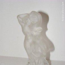 Antigüedades: PAREJA EN CRISTAL LALIQUE. Lote 119180475