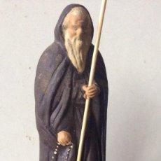 Antigüedades: ANTIGUA FIGURA DE SANTO DOMINGO REALIZADO EN BARRO. Lote 119186835