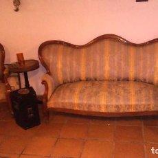 Antigüedades: ESPECTACULAR TRESILLO ISABELINO A PRECIO DE RISA, (MIL QUINIENTOS EUROS). Lote 119189551