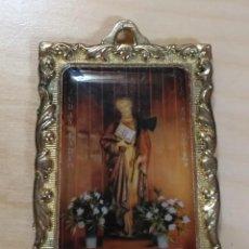 Antiguidades: MEDALLA SAN JUDAS TADEO - MARCO METAL DORADO. Lote 119201471