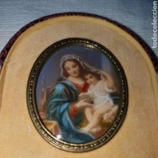 Antigüedades: PRECIOSA CAPILLA PORCELANA PINTADA A MANO. Lote 119227904