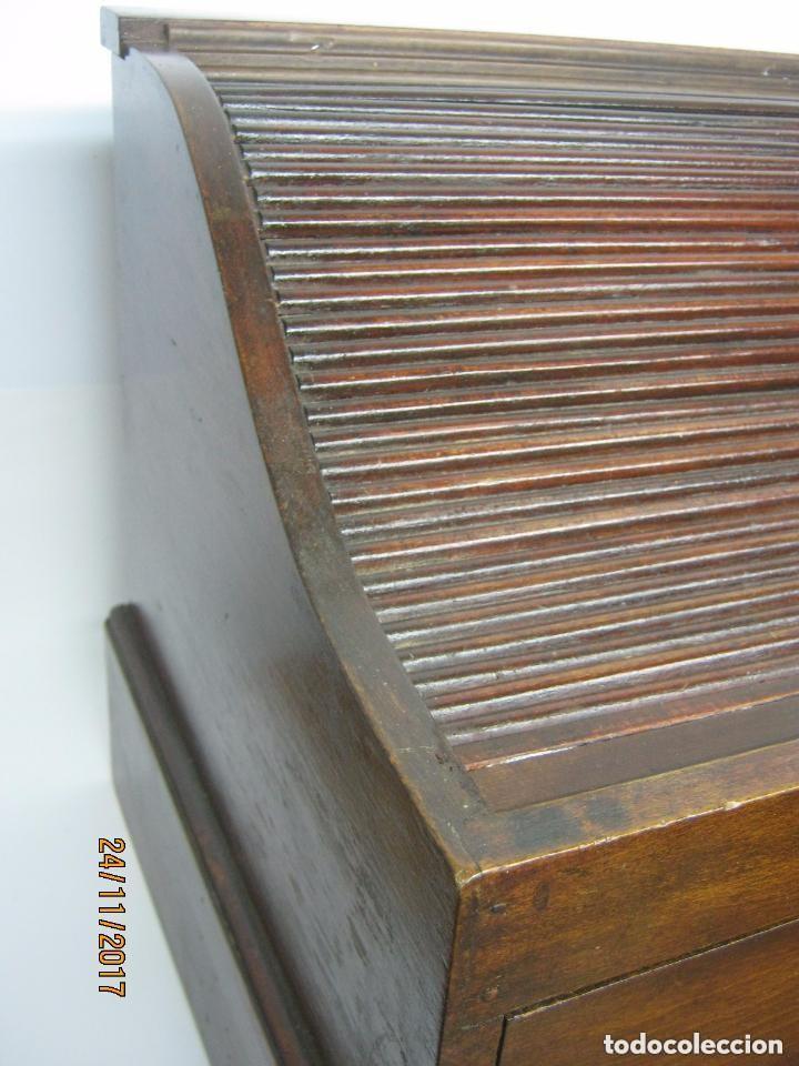 Antigüedades: Antiguo secreter buro con persiana - con secretos - tipo escritorio americano industrial - Foto 3 - 119231591