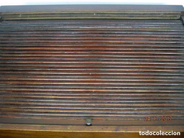 Antigüedades: Antiguo secreter buro con persiana - con secretos - tipo escritorio americano industrial - Foto 4 - 119231591