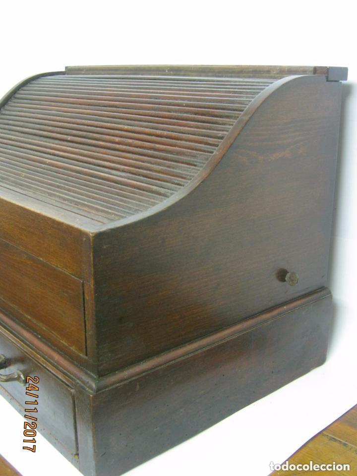 Antigüedades: Antiguo secreter buro con persiana - con secretos - tipo escritorio americano industrial - Foto 5 - 119231591