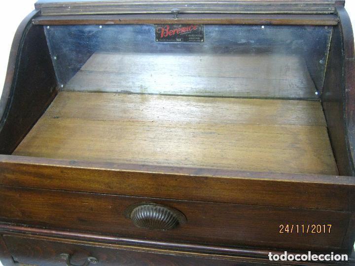 Antigüedades: Antiguo secreter buro con persiana - con secretos - tipo escritorio americano industrial - Foto 6 - 119231591