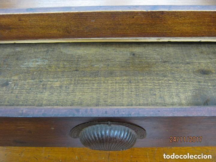 Antigüedades: Antiguo secreter buro con persiana - con secretos - tipo escritorio americano industrial - Foto 8 - 119231591