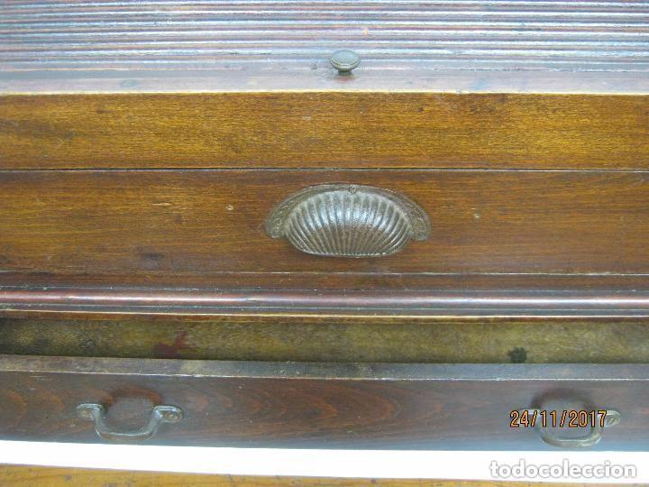 Antigüedades: Antiguo secreter buro con persiana - con secretos - tipo escritorio americano industrial - Foto 9 - 119231591